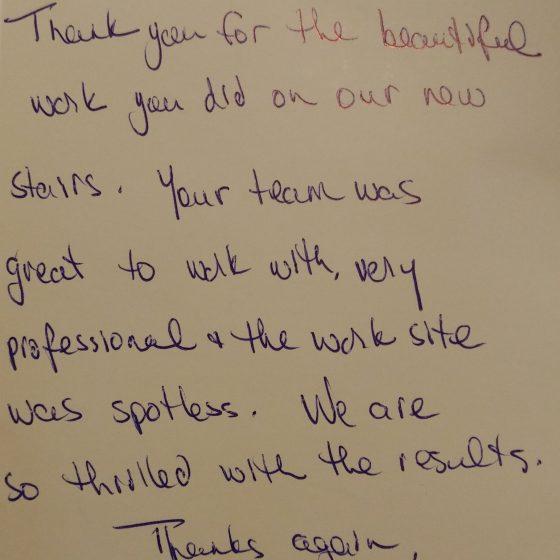 Testimonial - Thank you Card